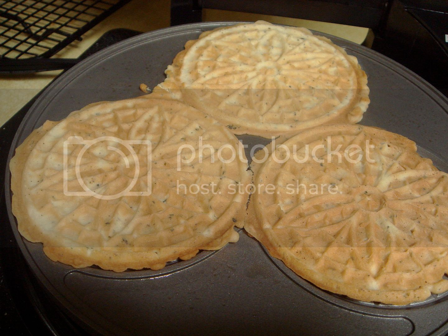 brown pizzelles